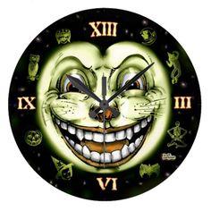 Black Cat 13 Clock Halloween