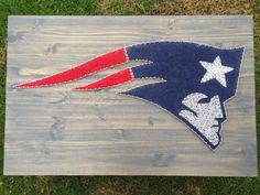 MADE TO ORDER! Custom New England Patriots string art sign by KailsStringArt on Etsy https://www.etsy.com/listing/253973853/made-to-order-custom-new-england