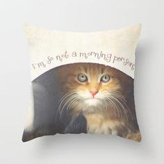 Cat Throw  Pillow - $20.00