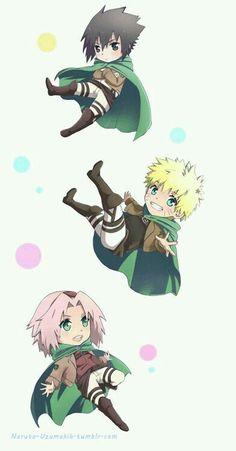 Naruto, Sasuke y Sakura