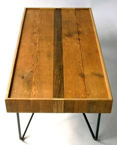 coffee table with hair pin legs
