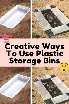 Plastic Bins, Diy Recycle, Diy Garden Decor, Recycled Crafts, Storage Bins, Home Repair, Diy Craft Projects, Just In Case, Life Hacks