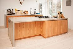 Küche, Beton, Bora Professional,Lärche