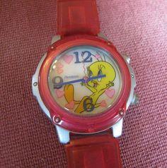 Tweety Bird Relaxing Hearts Watch 1999 Wristwatch Armitron Acrylic Water Resist