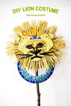 How For Making Candles In Your House - Solitary Interest Or Relatives Affair Make A Lion Mask Fit For A King With Simple Supplies A Most Regal Diy No-Sew Costume For Kids Free Template Included Lion King Crafts, Lion King Party, Lion Mask, Animal Crafts, Animal Activities, Fun Activities, Diy Halloween Costumes, Costume Ideas, Mask For Kids