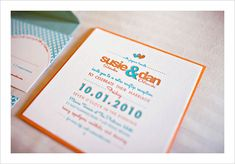 Retro Invitation Set