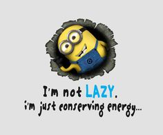 My motto. And who better to hear it from than a minion.