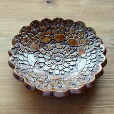 miseczka,patera,folk,ceramiczna,dzień babci - Ceramika i szkło - Wyposażenie wnętrz w ArsNeo