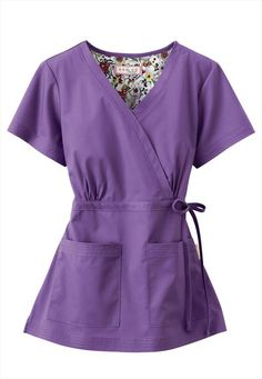 Koi Katelyn is our all-time best-selling Mock-wrap top. Koi Scrubs, Cute Scrubs, Scrubs Outfit, Scrubs Uniform, Stylish Scrubs, Beauty Uniforms, Scrub Jackets, Medical Scrubs, Outfit Trends