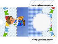 Envelope CD DVD Festa Junina Azul