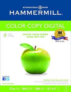 Color Copy Paper, 98 Brightness, 32lb, 8-1/2 x 11, Photo White, 500/Ream