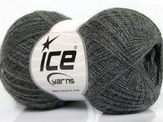 Fiber Content 70% Superwash Merino 30% Baby Alpaca Brand Ice Yarns Dark Grey fnt2-44125