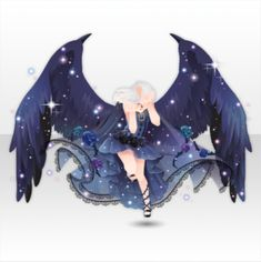 """Schwarzwald Fantasie was a Club Event available from to with """"Dark Fairy Tale"""" themed rewards. Manga Clothes, Drawing Clothes, Clothing Sketches, Dress Sketches, Anime Witch, Anime Dress, Cocoppa Play, Dress Drawing, Anime Outfits"""