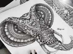 Elephant by Maahy's Art
