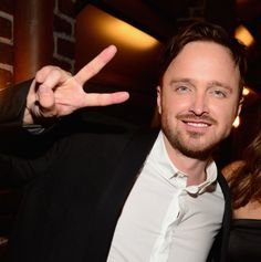 """His """"deuces"""" face. 
