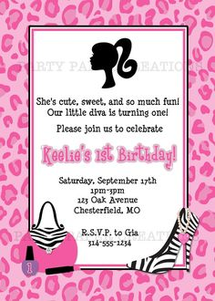5th birthday party invitation wording party ideas for kids cut birthday party invitation for your little diva stopboris Image collections