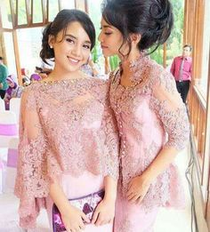 Tag Like and mention your friends Kebaya Lace, Kebaya Brokat, Batik Kebaya, Kebaya Dress, Batik Dress, Kebaya Pink, Gaun Dress, Dress Brokat, Modern Filipiniana Dress