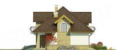 Elewacja prawa projektu Iliada III Home Fashion, Cabin, House Styles, Villas, Home Decor, Decoration Home, Room Decor, Mansions, Villa