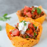 These Keto Cheese Shell Taco Cups are the easiest way to get your taco on...low carb style!