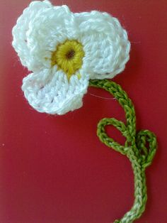 Crocheted violets
