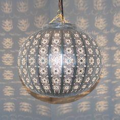Oriental-Orient-metal lamp ceiling lamp Suspension lamp-kora Kazdir-M-Silver