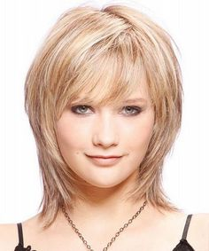 short layered hairstyles for fat faces