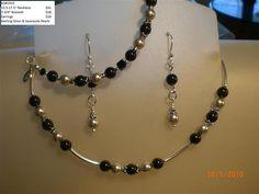 Handmade Necklace, Bracelet & Earrings Set