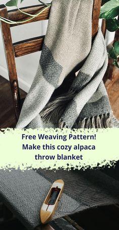 Free Weaving Pattern - weave this cozy alpaca throw blanket