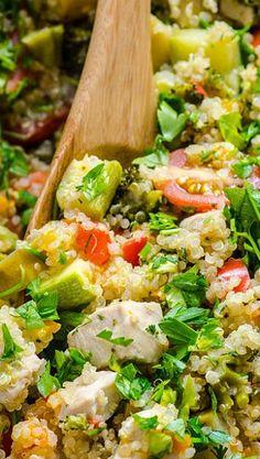 Chicken and Garden Veggies Quinoa Skillet