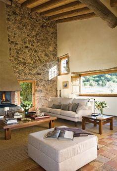 Una masía centenaria restaurada interior · ElMueble.com · Casas