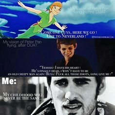 Lol. I was at the gym doing my floor rutein and my best friens made up a words to go with my music and it was about tinkerbelle and hook and Pan and it was about ugly evil captain hook and sweet sparkly tinkerbelle and I was laughing so hard and then at the end Peter pan came and saved the day and I was crying and just laying on the floor slowly dying.