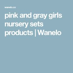 pink and gray girls nursery sets products | Wanelo
