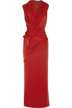The power of red - Vivienne Westwood Anglomania red jersey maxi dress