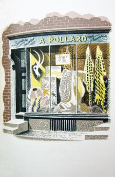 "Eric Ravilious: ""The Furrier"" as published in 'High Street' by J M Richards, London, 1938 (lithograph)"