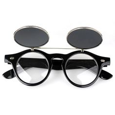 Flip Up Retro Round Cocok untuk pria dan wanita Melindungi mata dari cahaya  yang tajam Lensa dan cermin bulat dan bergaya klasik Bahan  Logam + bingkai  ... c6728b72e1