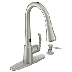Moen Delaney with MotionSense Spot Resist Stainless 1-Handle Pull-Down Touchless Kitchen Faucet *** Click image for more details.
