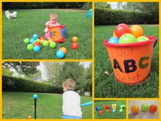 Our ABC Bucket. 22 ways to play with alphabet balls. {Adventures in Reading With Kids}