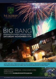 The Big Bang – Bournemouth's Funkiest Fireworks Display – Saturday 2015 Bonfire Night, Bournemouth, Random Acts, Bigbang, Fireworks, Bangs, Woodland, Acting, Display