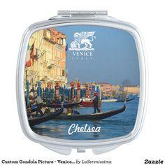 Custom Gondola Picture - Venice, Italy Makeup Mirror