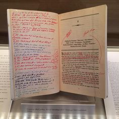 David Foster Wallace's annotated copy of Cormac McCarthy's Blood Meridian at The Ransom Center.
