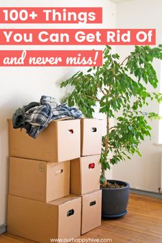 Are you ready to declutter but don't know where to start? Check out this list of over 100 items you can get rid of today that you won't even miss when they are gone! Declutter Home, Organizing Your Home, Decluttering, Organizing Tips, Home Organization Hacks, Kitchen Organization, Kids Schedule, Getting Rid Of Clutter, Clutter Free Home