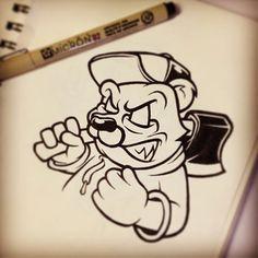 I hope you like it. Graffiti Doodles, Graffiti Cartoons, Graffiti Font, Graffiti Characters, Graffiti Drawing, Wizard Graffiti, Dope Cartoon Art, Cartoon Drawings, Art Drawings