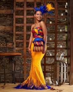 Hey Damsels, Have you checked out the latest Kente styles? It is true that Kente… African Wedding Attire, African Attire, African Dress, African Style, African Outfits, African Clothes, African Wear, African Beauty, Latest African Fashion Dresses