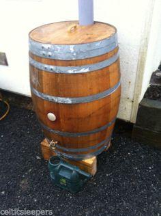 £189 - Oak-Wooden-Wine-Barrel-Keg-Water-Butt-Cider-Beer-Garden