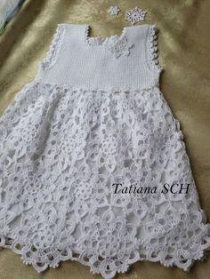 Модели вязания: Милое платье для девочки