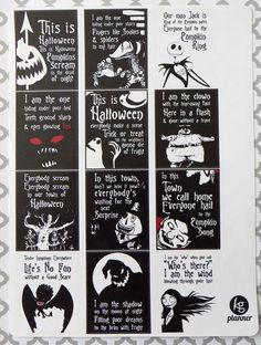 Nightmare Before Christmas Quote Full Box Planner Stickers for Erin Condren Planner, Filofax, Plum Paper by KGPlanner on Etsy https://www.etsy.com/listing/248911265/nightmare-before-christmas-quote-full