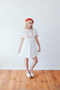 Vintage Ivory 70's German Summer Baby Doll Dress by LAPraxis on Etsy