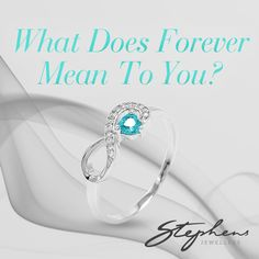 Infinity means different things for different people. What does this ring say to you? Come in store or shop these styles online at http://www.stephensjewellers.com.au/brand/stephens?category=&stone_type=&metal_type=&search_query=&gender=&promotion= #Stephensjewellers #Jewellery #Gold #Rings #Aquamarine http://www.stephensjewellers.com.au/