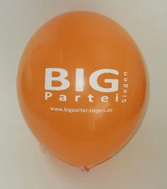 #Luftballon mit #Parteiwerbung