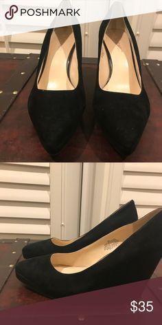 cb835e5e4eb Nine West Black Suede Wedge Heels Nine West Black Wedge Heels Nine West  Shoes Wedges